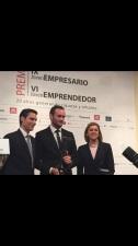 Santiago García, de  Twinner Running Center,  recibe el  Premio Joven Empresario 2014