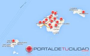 Portaldetuciudad.com se instala en todas las Islas Baleares.