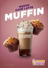 DUNKIN' COFFEE lanza un nuevo café latte inspirado en los clásicos muffins