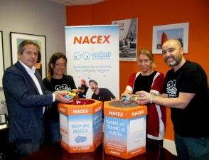 La campaña de NACEX y la Fundación Asdent cumple su primer año, sumando más de 20 toneladas de tapones solidarios