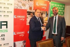 Franquicias EROSKI Y ATA firman un acuerdo de colaboración para dar apoyo e impulsar el emprendimiento.